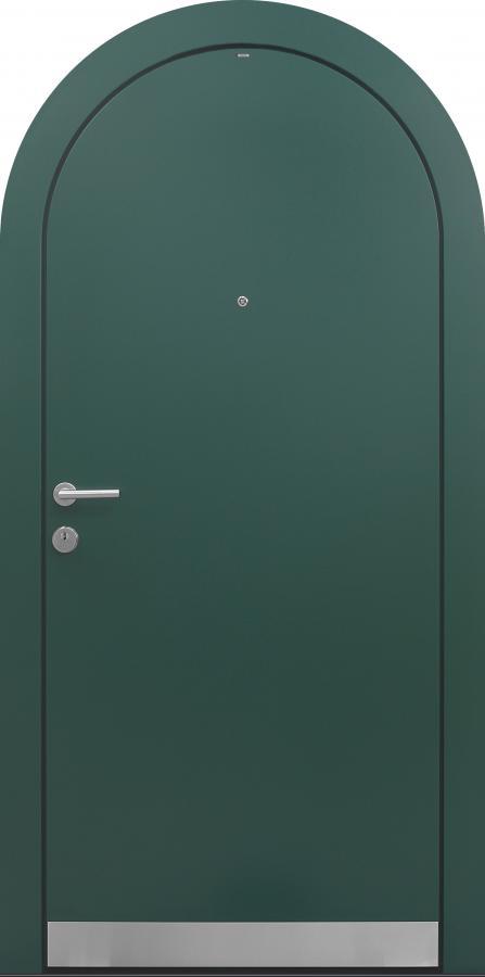 Haustür grün mit Rundbogen Modell B9-T1